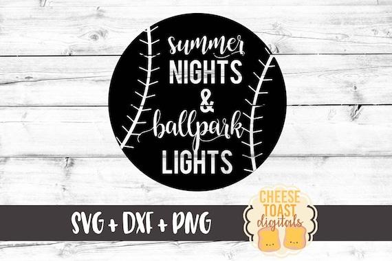 bb73746c2910 Summer Nights   Ballpark Lights SVG Baseball Svg Softball