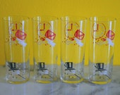 Set of 4 Federal Party Time Drinking Glasses