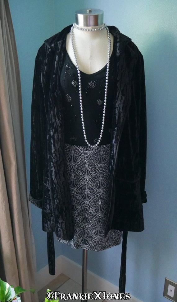 Black Velvet Robe/Jacket