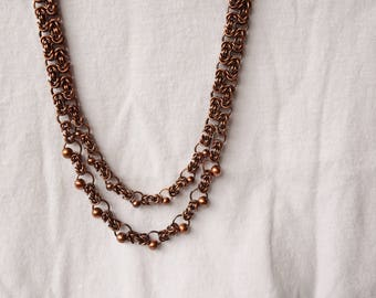 Copper Chainmaille Necklace