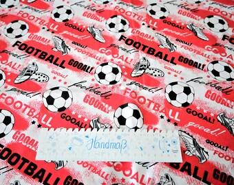 Baumwollstoff Fußball 1,60m breit  Baumwolle Webware Kinder