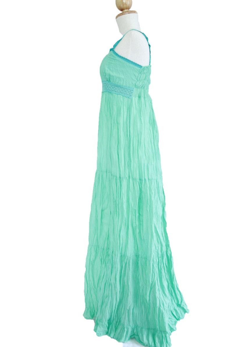 a2e72043610 Mint Maxi Dress Maternity Dress   Beach Wedding Dress
