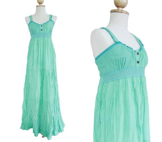 Maxi Dress For Beach Wedding   Mint Maxi Dress Maternity Dress Beach Wedding Dress Etsy
