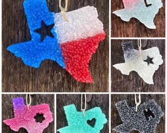 XL Texas Inside Shape, (car freshener, aroma beads, car air freshener, freshies, car freshy) car freshen, car freshy, freshy, accessory, car