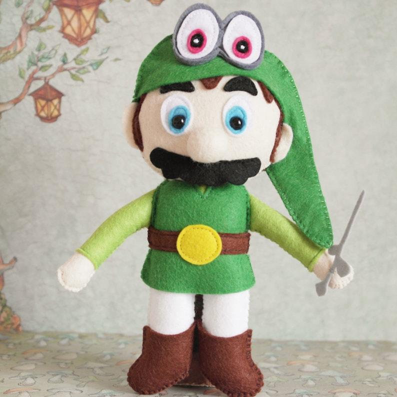 Super Mario Odyssey Nintendo Switch Link Legend of Zelda Cappy Wind Waker  Handmade Felt Toy