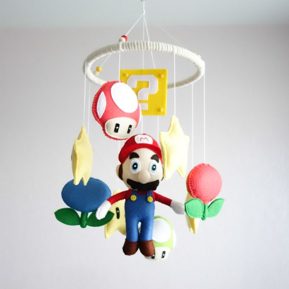 Nintendo Super Mario Kinderbett Filz Mobile Kinderzimmer Dekor | Etsy