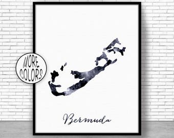 Bermuda map | Etsy