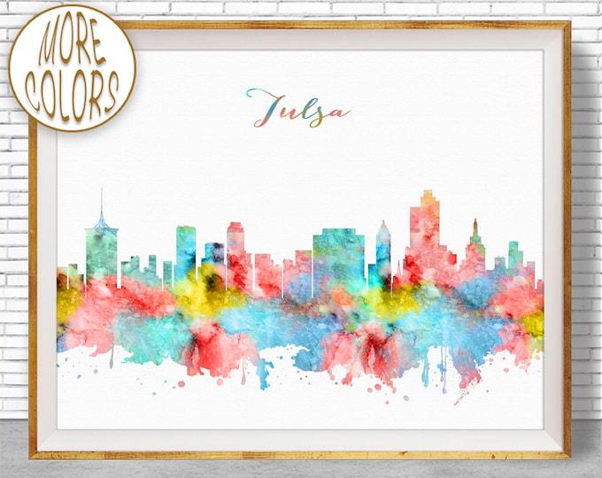 Tulsa Oklahoma Tulsa Art Tulsa Print Tulsa Skyline City Wall Art Office Decor City Skyline Prints Skyline Art Office Poster ArtPrintZone