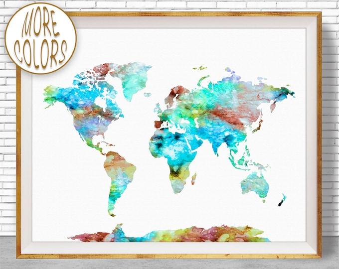 World Map Wall Art World Print World Map Print World Map Poster Office Prints Office Art Travel Poster Travel Art Prints ArtPrintZone