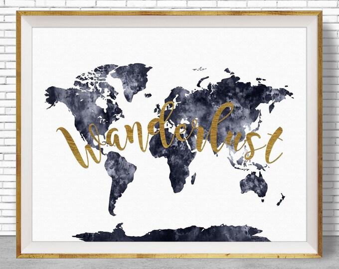 Wanderlust Print World Map Print Wanderlust Art Wanderlust Decor Wanderlust Poster Wanderlust Wall Art Wanderlust ArtPrintZone
