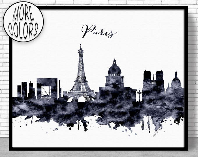 Paris Decor Paris Print Paris Skyline Paris France Paris Poster Paris Art Print Paris Wall Art ArtPrintZone