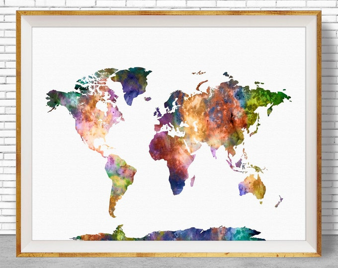 World Map Print World Print World Painting World Map Poster Office Prints Office Art Travel Poster Travel Art Prints ArtPrintZone