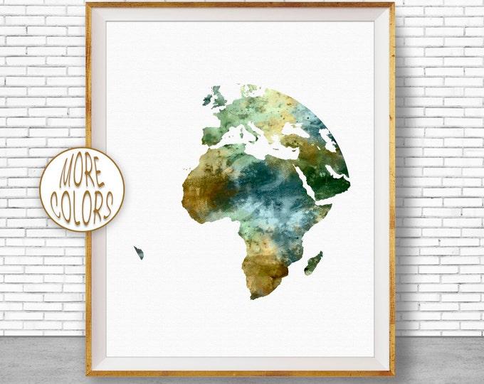 Africa Print World Map Africa Art Globe Art Globe Print Globe Decor World Map Poster Wall Art World Map Print World Map DecorGift for Women