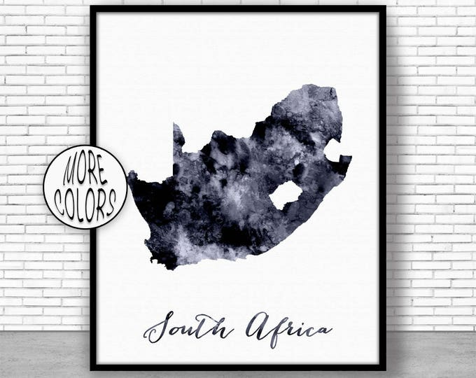 South Africa Print Travel Map South Africa Map Art Travel Decor Travel Prints Living Room Wall Art Office Pictures ArtPrintZone