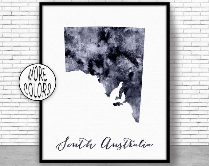 South Australia Art Print Home Decor South Australia Map Art Wall Prints Wall Art Home Wall Decor Watercolor Painting ArtPrintZone