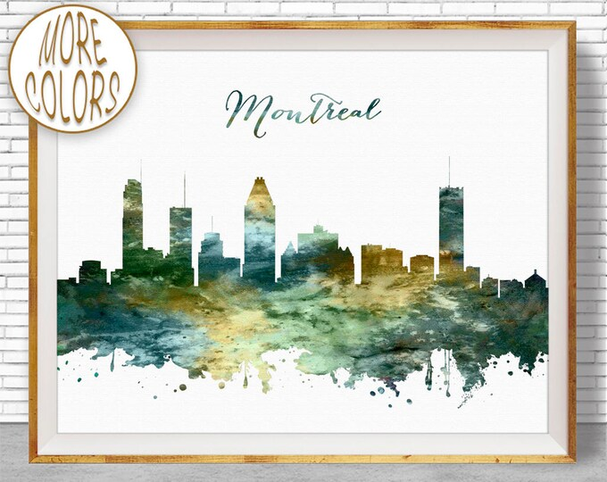 Montreal Print, Montreal Skyline, Montreal Canada, Office Decor, City Skyline Prints, Skyline Art, Cityscape Art, ArtPrintZone