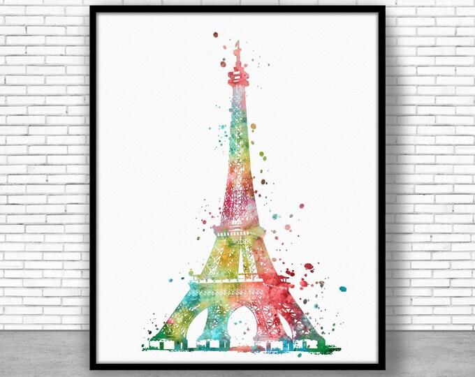 eiffel tower Decor Eiffel Tower Print eiffel tower art paris art paris print Watercolor Decor paris wall art ArtPrintZoneGift for Women