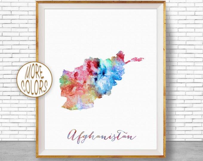 Afghanistan Map Decor Afghanistan Print Afghanistan Art Print Watercolor Print Wall Art Prints ArtPrintZone