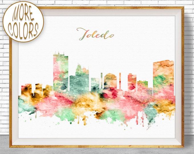 Toledo Ohio Toledo Art Toledo Print Toledo Skyline City Wall Art City Skyline Prints Office Poster ArtPrintZone