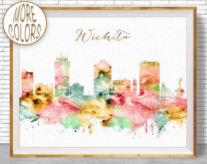 Wichita Art Wichita Kansas Wichita Print Wichita Skyline Office Decor Office Poster Skyline Art ArtPrintZone