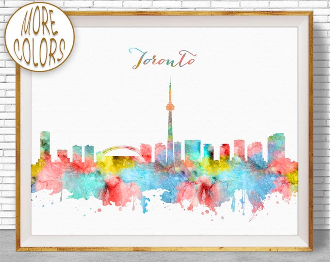 Toronto Print, Toronto Skyline, Toronto Canada, Office Wall Art, City Skyline Prints, Skyline Art, Cityscape Art, ArtPrintZone