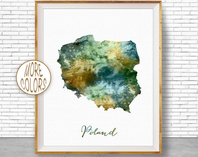 Poland Map Art Poland Print Watercolor Map Map Painting Map Artwork  Office Decorations Country Map ArtPrintZone