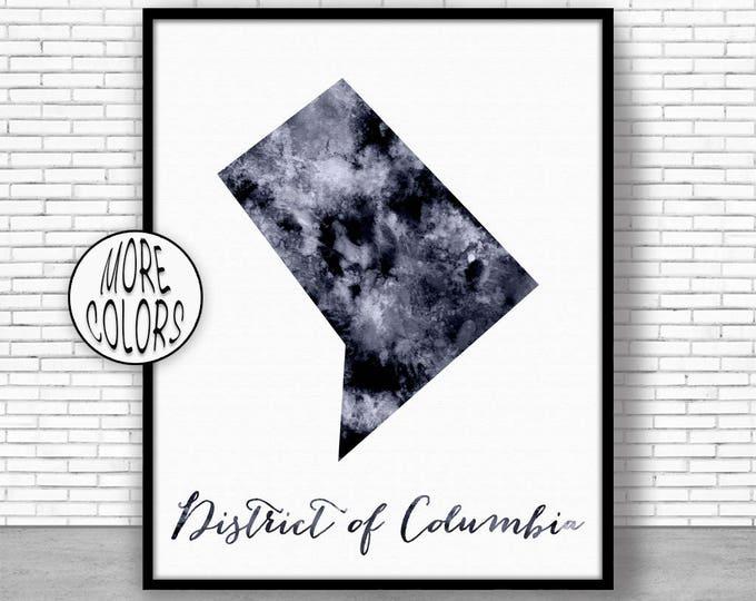 District of Columbia Art Print Map Art Print Map Artwork Map Print Map Poster Watercolor Map ArtPrintZone