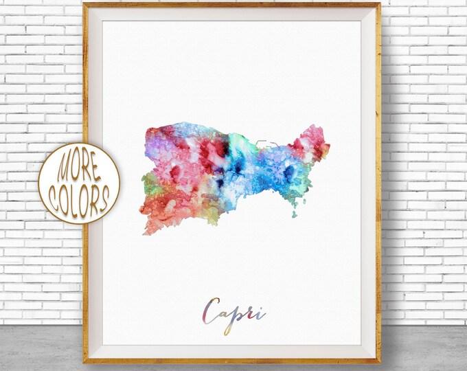 Capri Print, Capri Map Art Prints, Capri Italy, Capri Poster, Office Wall Art, Map Decor, Office Poster, Office Decor, ArtPrintZone