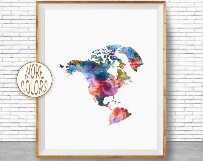 North America Print North America Map Globe Art Globe Print World Map Poster World Map Wall Art World Map Print World Map Decor ArtPrintZone