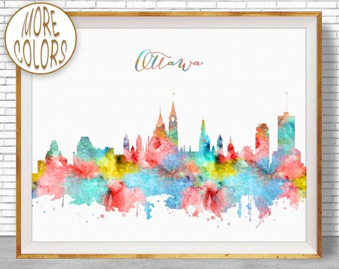 Ottawa Print, Ottawa Skyline, Ottawa Ontario, Office Wall Art, City Skyline Prints, Skyline Art, Cityscape Art, ArtPrintZone