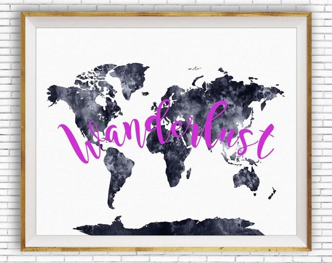 Wanderlust Art Wanderlust Print World Map Print Wanderlust Decor Wanderlust Poster Wanderlust Wall Art Wanderlust ArtPrintZone