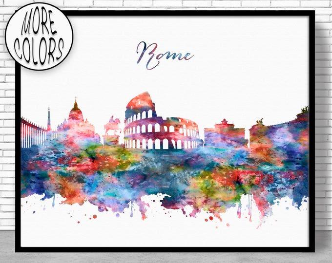 Rome Print, Rome Skyline, Rome Italy, Office Wall Art, City Skyline Prints, Skyline Art, Cityscape Art, ArtPrintZone
