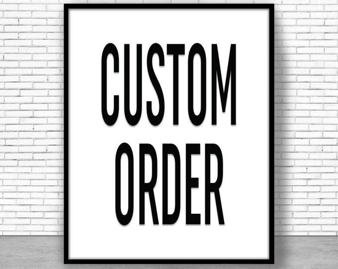 Custom Order Watercolor Art Print Watercolor Wall Art Print Watercolor Decor Watercolor Artwork Custom order art ArtPrintZone