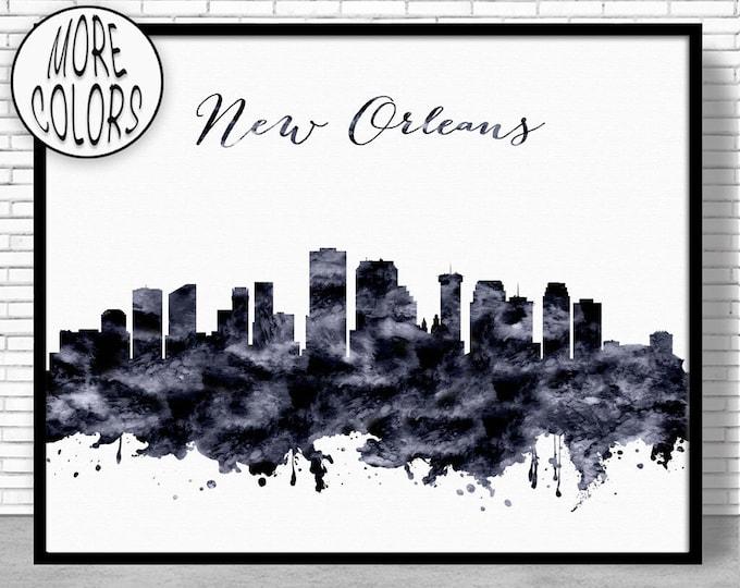 New Orleans Print New Orleans Skyline New Orleans Louisiana City Wall Art City Skyline Prints Skyline Art ArtPrintZone