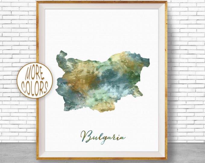 Bulgaria Map Art Bulgaria Print Watercolor Map Map Painting Map Artwork  Office Decorations Country Map ArtPrintZone