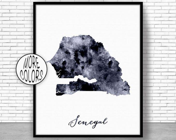 Senegal Print Travel Map Senegal Map Print Travel Decor Travel Prints Living Room Wall Art Office Pictures ArtPrintZone