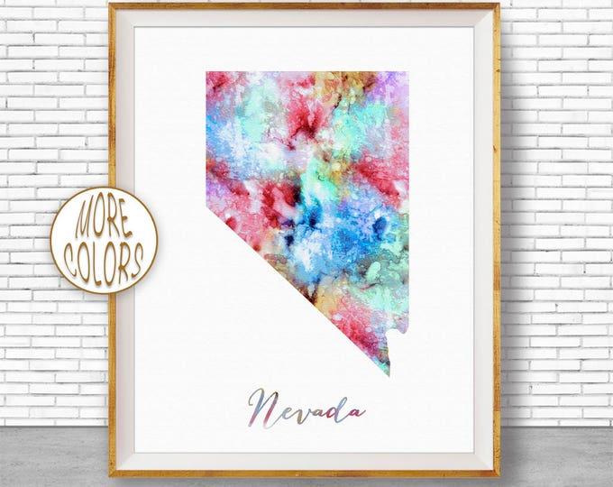 Nevada Print Nevada Art Print Nevada Decor Nevada Map Art Print Map Artwork Map Print Map Poster Office Art Print ArtPrintZone