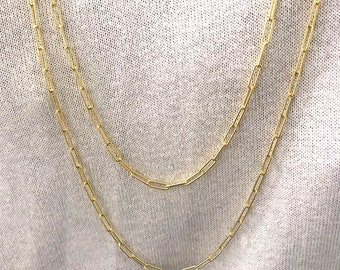 Teri necklace. Silver necklaces. Link necklaces. Link choker. Oval links.