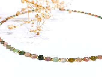Juno collection. Tourmaline necklace. Mineral necklaces. Silver and minerals. Anklets. Ankle.