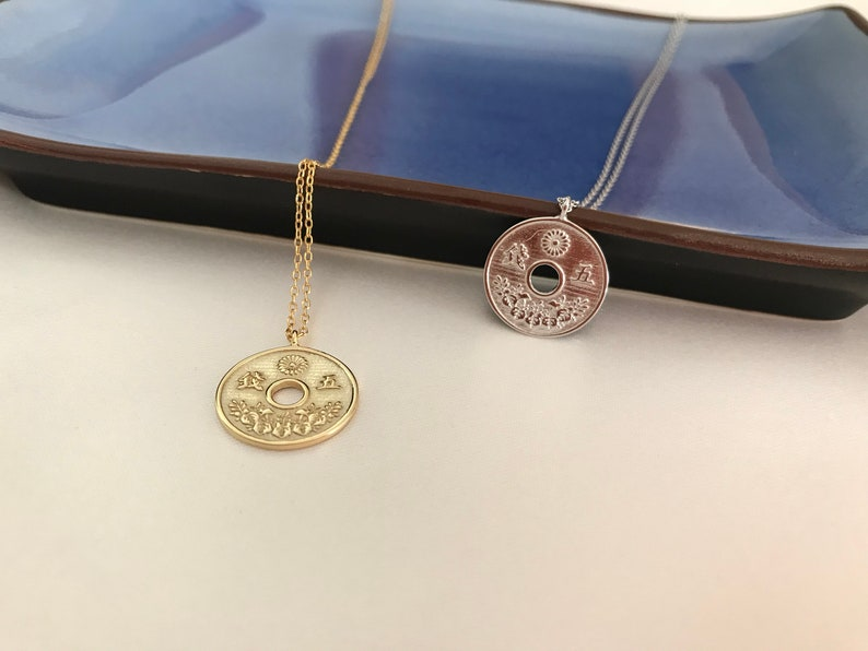 Lucky coins. Boho style Yunki Necklaces Medal necklaces Necklaces with coins Dainty chain choker Silver necklaces