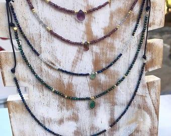 Garnet Necklace. Garnet necklace.
