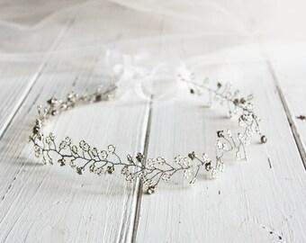 Bridal Hair Vine Wedding Hair Vine Bridal Hair Halo, Vine Boho Hair Vine Wedding hair piece crystal vine, bridal hair wrap wedding hair vine