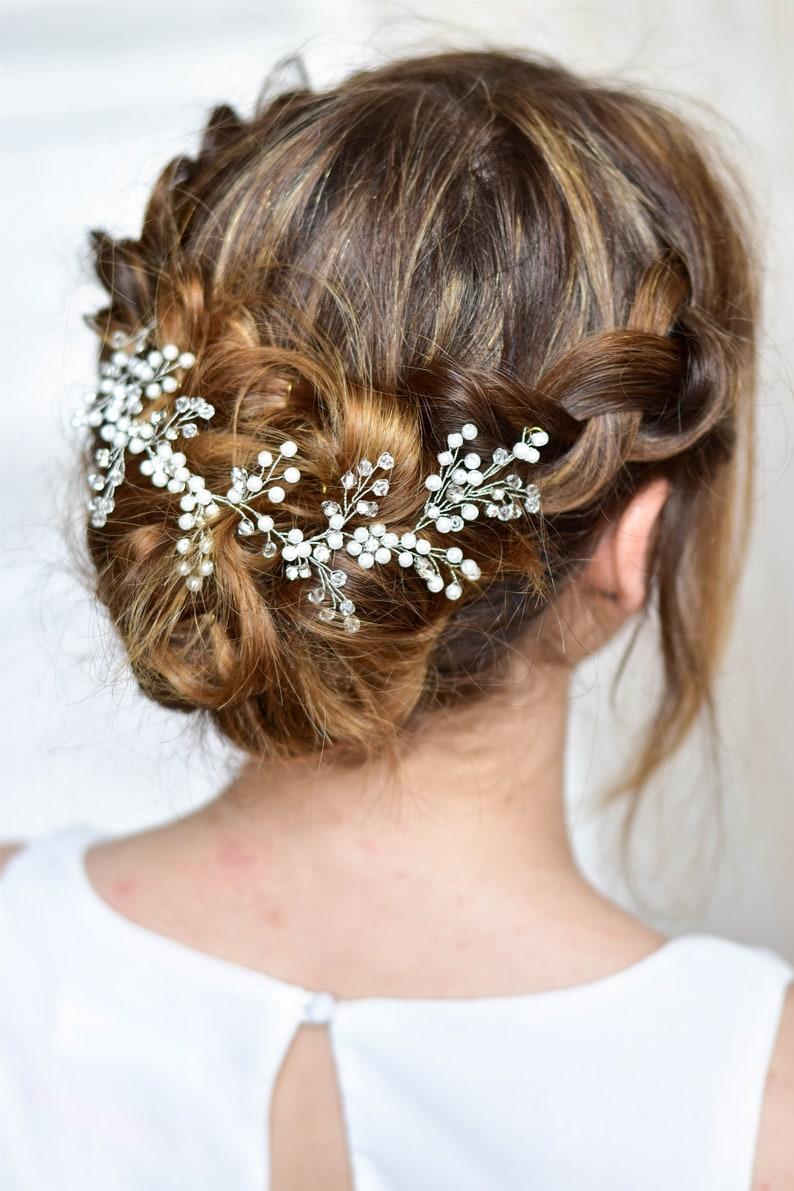 Bridal headpiece Bridal Hair Vine Boho bridal back headpiece Wedding hair accessories Bridal hair jewelry Bridal crystal wreath