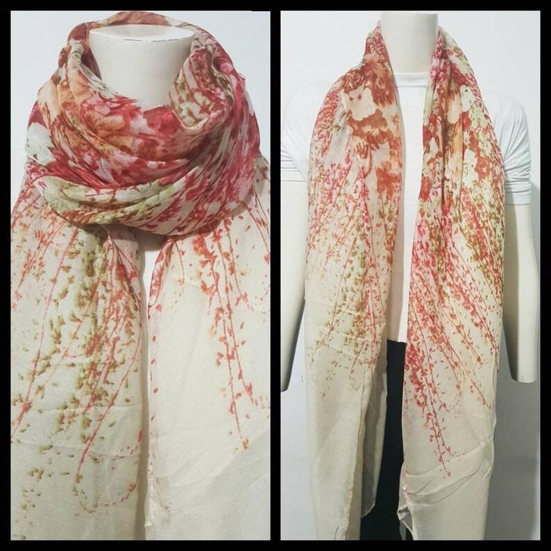 New Ladies Floral Print Sequin Detail Lightweight Summer Scarf Shawl Hijab