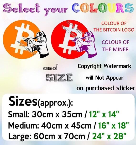 Set of 5 BITCOIN logos Cryptocurrency BTC Decal Wall Car LaptopTransfer Decor UK