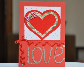Handmade Valentine's Day Card.