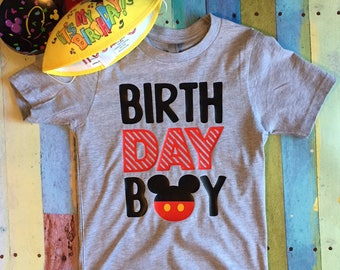 Birthday Boy Youth Shirt Mickey Disney Happy