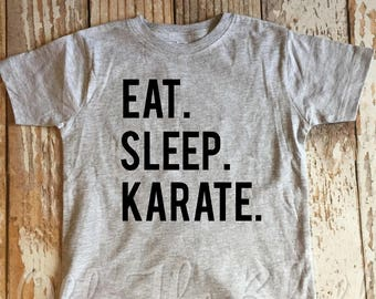 Eat Sleep Karate Kids T-shirt