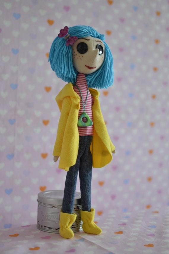 Coraline Coraline Handmade Doll Coraline Button Eyes Etsy