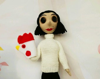 Coraline Coraline doll Coraline toy another mother another mom  handmade cloth dolls